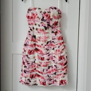 H&M strapless floral cocktail dress